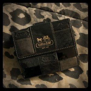 Coach authentic signature patchwork  bifold wallet